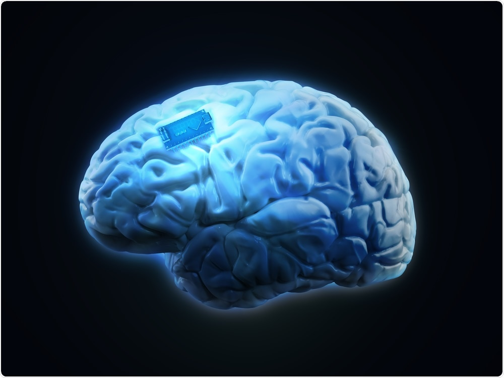 Implantable chip in brain