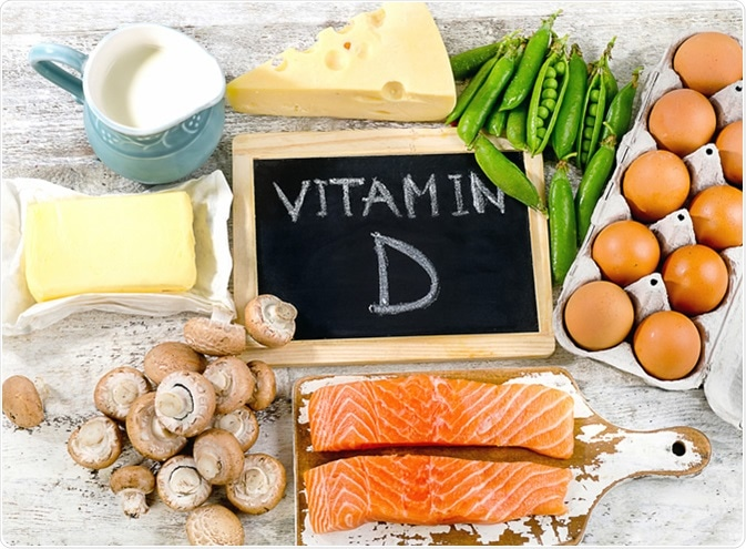 Foods rich in vitamin D. Image Credit: bitt24 / Shutterstock
