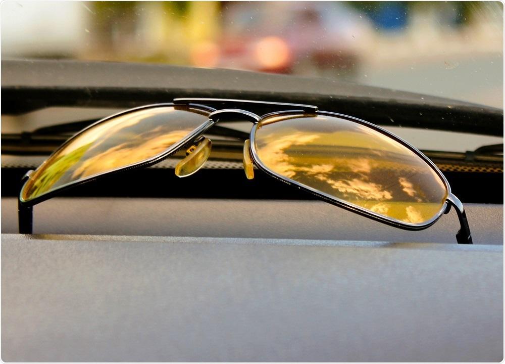 Anti-glare yellow lens glasses