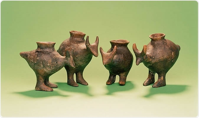 Late Bronze Age baby bottles from Vösendorf, Austria.