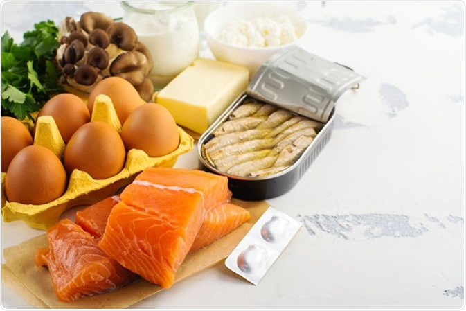 Natural sources of vitamin d.  - Image Credit: Ekaterina Markelova / Shutterstock