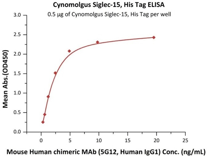 Immobilized Cynomolgus Siglec-15, His Tag
