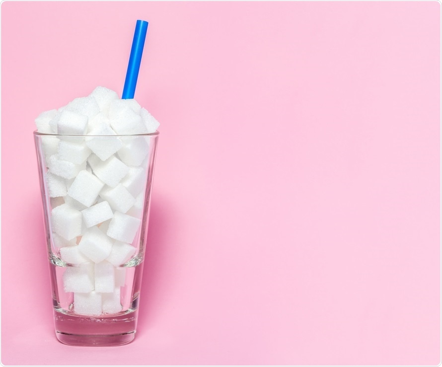 Sugar cubes - blood sugar concept
