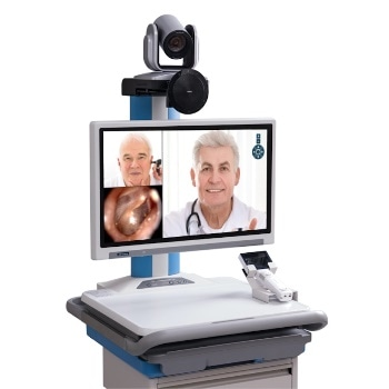Telehealth Computer Cart with Integrated Video Conferencing