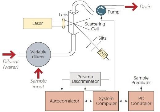 Online DLS system schematic