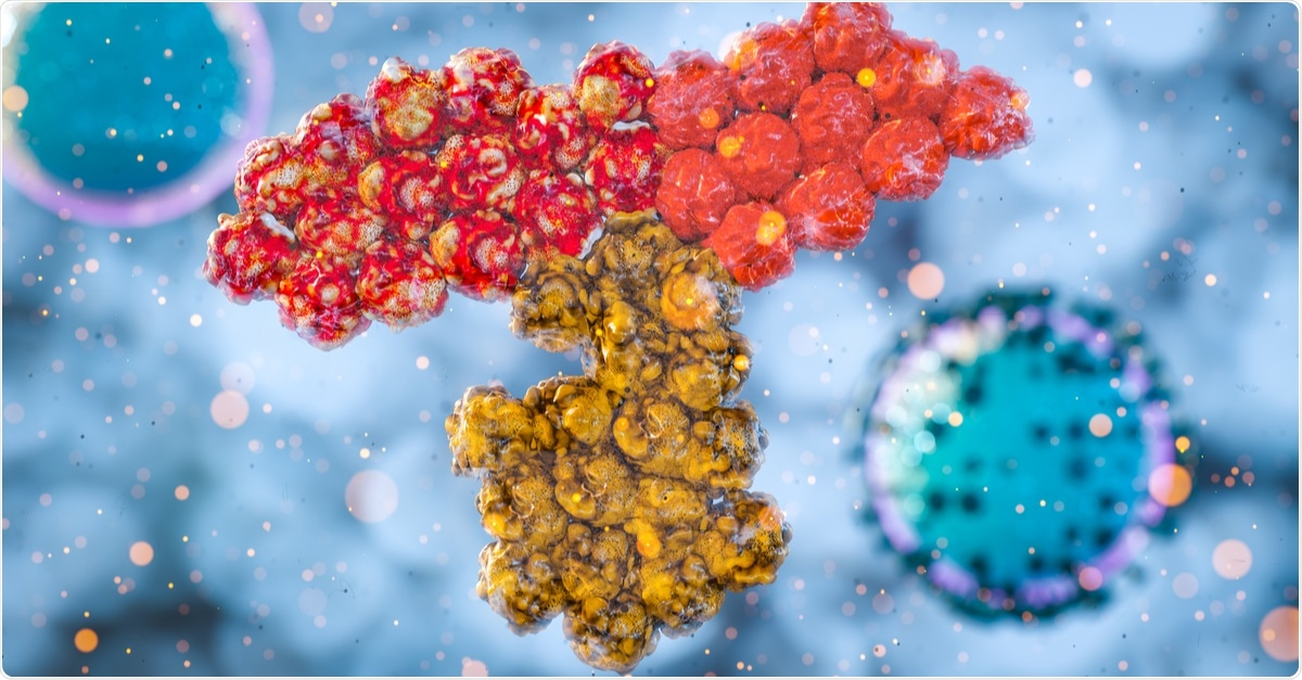 3D rendering of SARS-CoV-2 antibody. Image Credit: CI Photos / Shutterstock