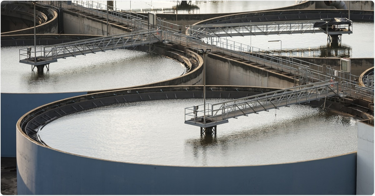 Image of modern wastewater treatment plant. Image Credit: arhendrix / Shutterstock