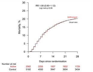 Azithromycin trial fails to provide evidence of benefit in COVID-19