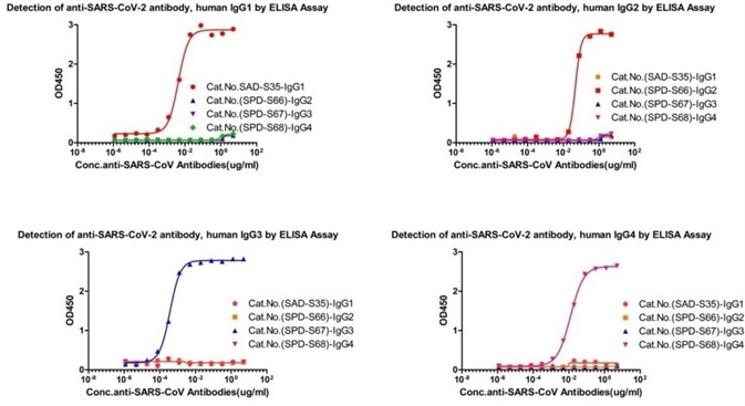 Cross-validation results of four IgG antibody subtypes detection