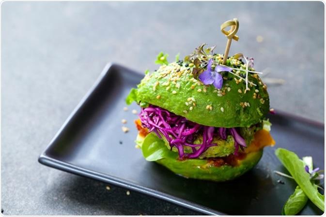 Hamburger del vegano. Credito di immagine: Magdanatka/Shutterstock
