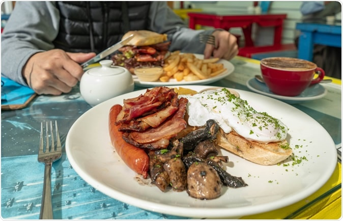 Extensive breakfasting should be preferred over large dinner meals to prevent obesity and high blood glucose peaks even under conditions of a hypocaloric diet. Image Credit: KungCrayfish / Shutterstock