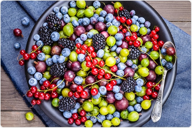 Berries rich with antioxidants. Image Credit: Leonori / Shutterstock