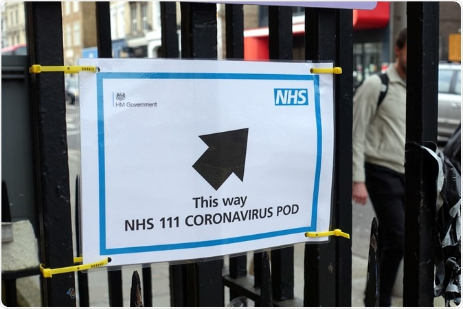 Central London hospitals set up Coronavirus Assessment Pods. Image Credit: Brian Minkoff / Shutterstock
