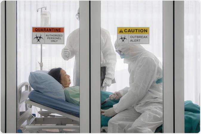 Coronavirus COVID-19 infected patient in quarantine. Image Credit: Mongkolchon Akesin / Shutterstock