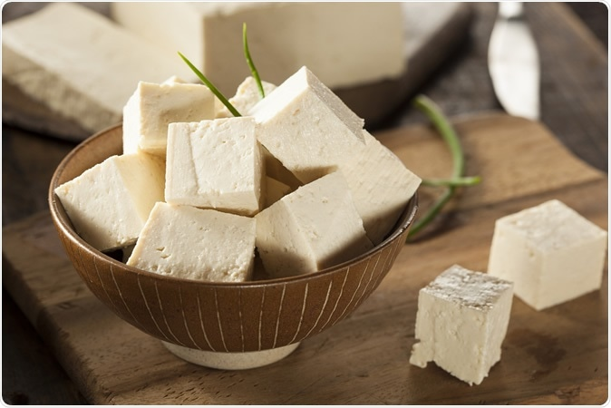 Isoflavone Intake and the Risk of Coronary Heart Disease in US Men and Women: Results From 3 Prospective Cohort Studies. Organic Raw Soy Tofu. Image Credit: Brent Hofacker / Shutterstock