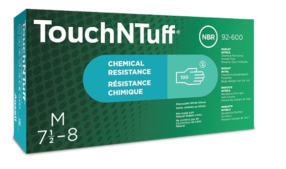 TouchNTuff® 92-600: Disposable Gloves with Chemical Splash Protection