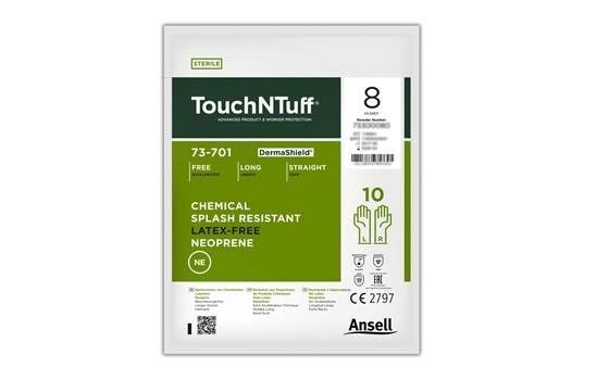 TouchNTuff® DermaShield™ 73-70: Disposable Neoprene Gloves