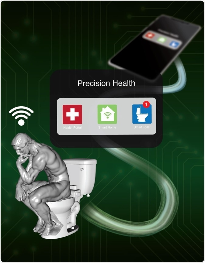 The smart toilet automatically sends data extracted from any sample to a secure, cloud-based system for safekeeping. Image Credit: James Strommer