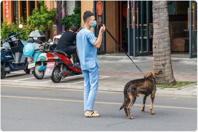 China, Hainan Island, Dadonghai Bay - Chinese vet rescues a stray dog. Image Credit: Evgenii Mitrokhin / Shutterstock