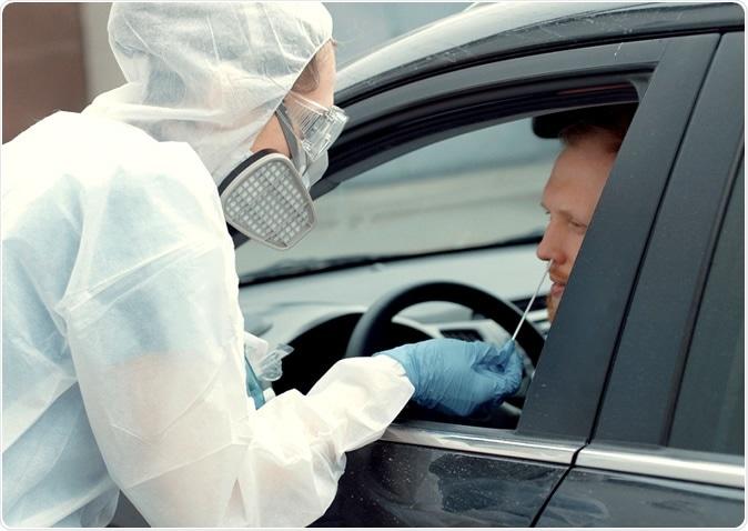 Drive-through coronavirus COVID-19 testing location. Image Credit: Supamotion / Shutterstock
