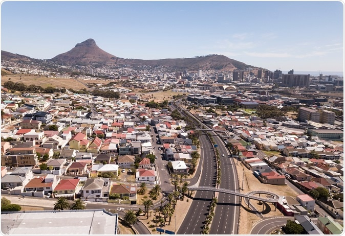 8 April 2020 - Cape Town, South Africa: Aerial view over Cape Town during COVID-19 lockdown. Image Credit: fivepointsix / Shutterstock