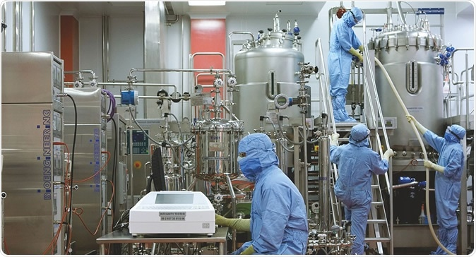 Vaccine Manufacturing. Image Credit: The Serum Institute of India
