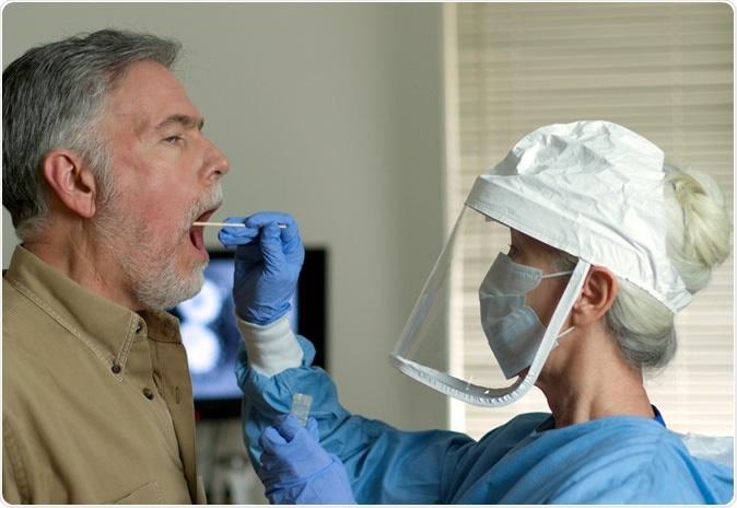 Investigación: La detección de anticuerpos a la glicoproteína del pico SARS-CoV-2 en suero y saliva aumenta la detección de la infección. Haber de imagen: Producciones/Shutterstock de JHDT