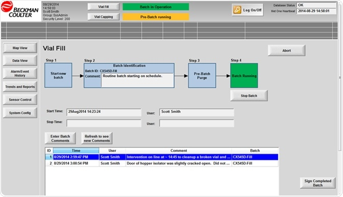 Batch workflow built into monitoring software.