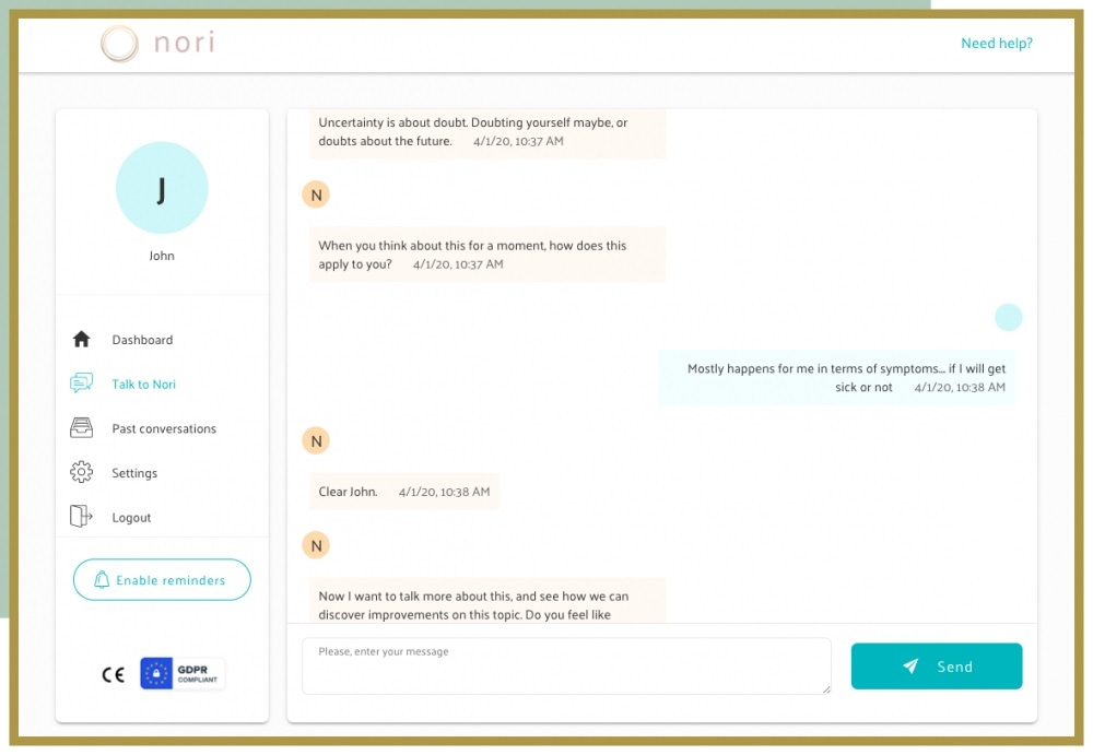 Nori Health offers conversational coach for people with Crohn
