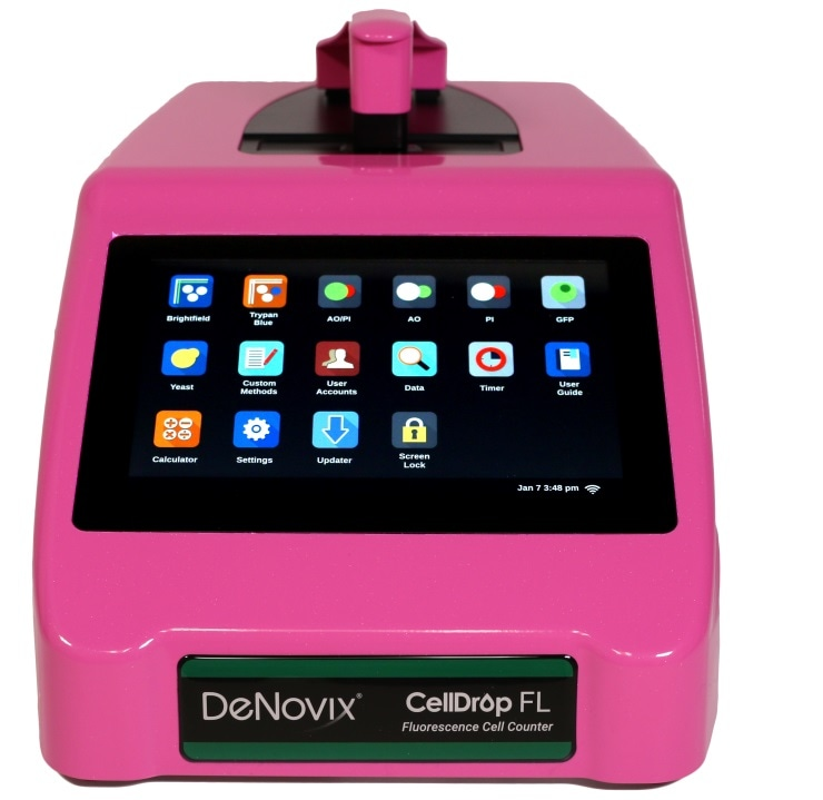 DeNovix Pink CellDrop™ automated cell counter giveaway won by University of Pittsburgh