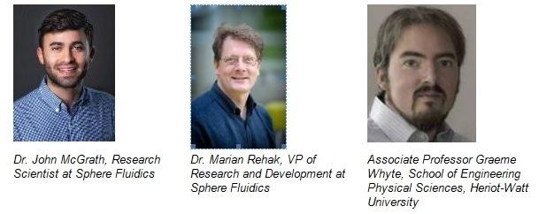 A universidade da fluídica e do Heriot-Watt da esfera colabora para desenvolver a instrumentação do gerador da gota da próxima geração