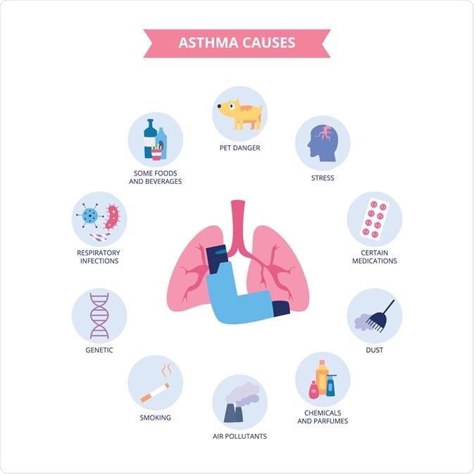causas da asma