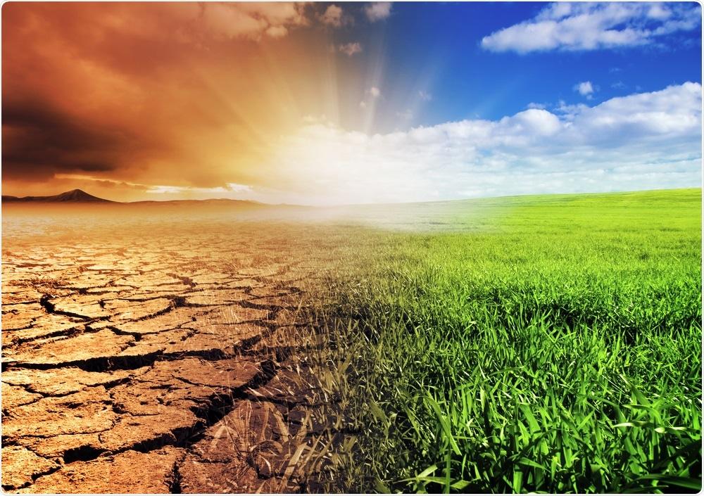 Concepto del cambio de clima