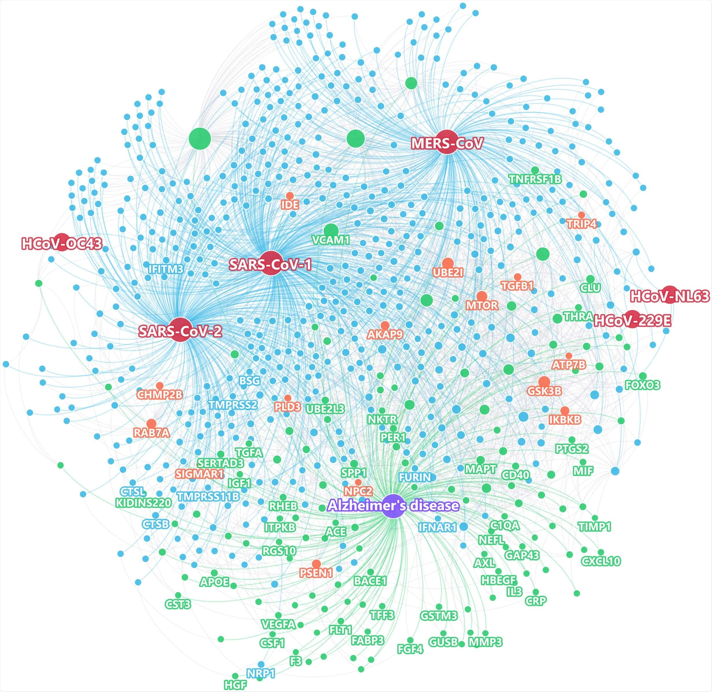 Using state-of-the-art network proximity measures to evaluate the network-based relationship for the gene/protein sets between virus-host factors and each disease/condition under the human interactome network model.