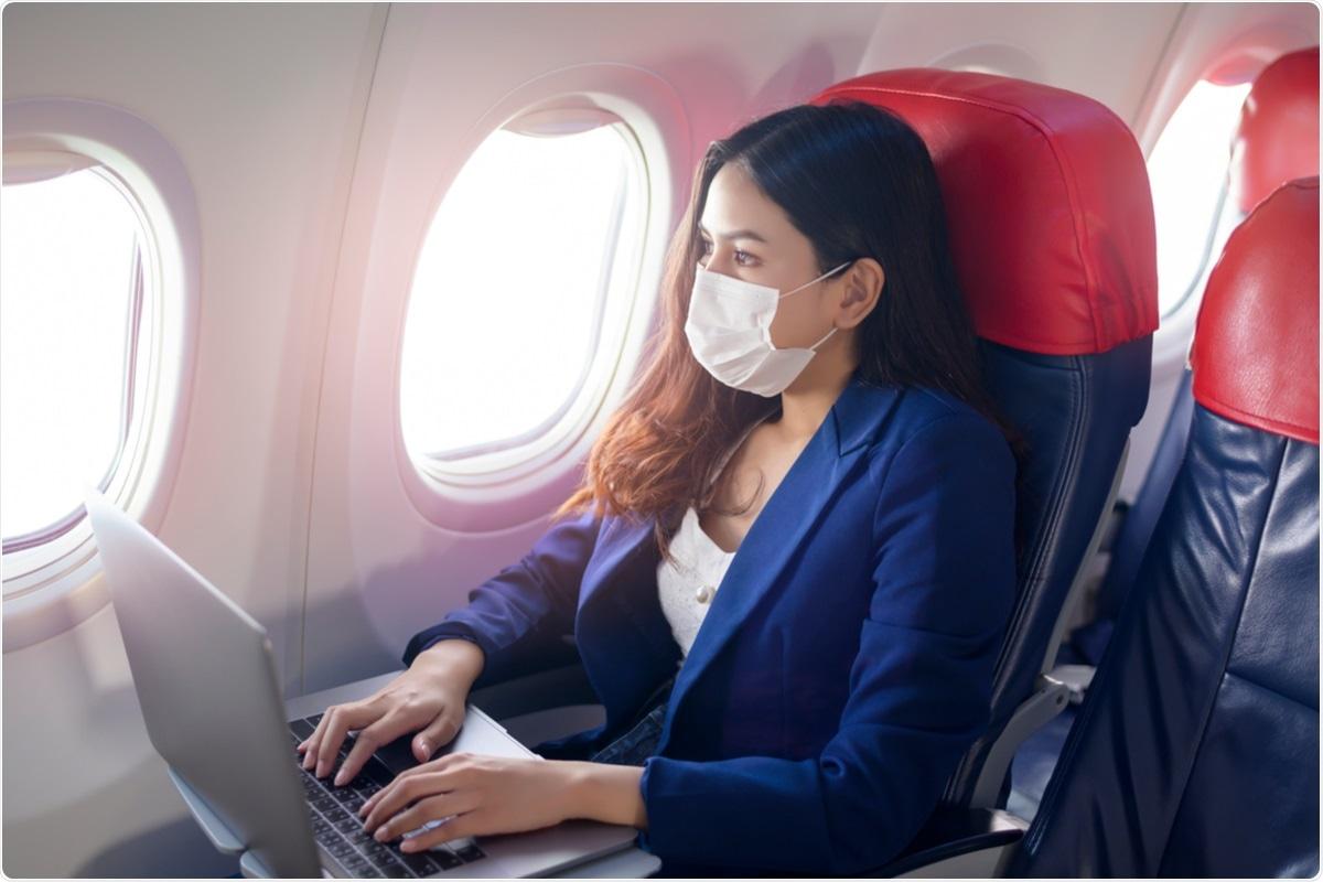 Estudio: Probabilidad y riesgo estimado de transmisión del SARS-CoV-2 en el sistema de transporte aéreo: una revisión sistémica y un metanálisis.  Haber de imagen: Thanakorn.P / Shutterstock