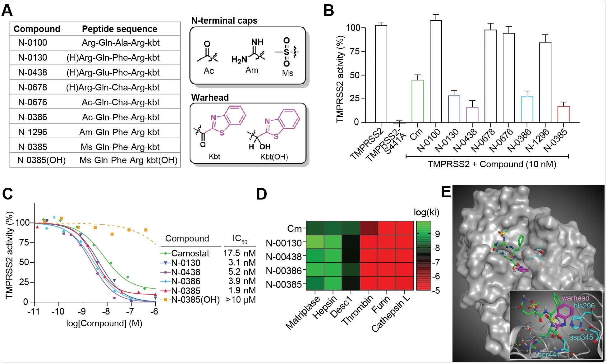 Ketobenzothiazole-based small-molecule peptidomimetics are potent TMPRSS2 inhibitors.