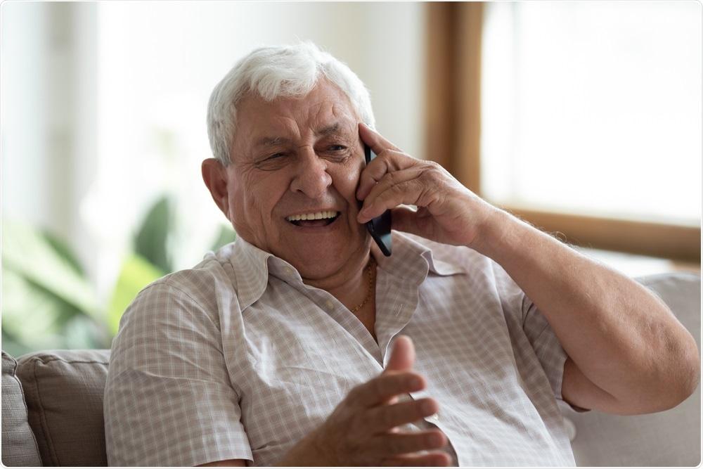 Elderly Man on the Telephone