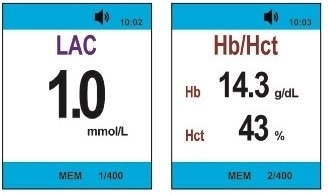 Capillary blood testing for lactate, Hb, and Hct with the StatStrip® LAC/Hb/Hct