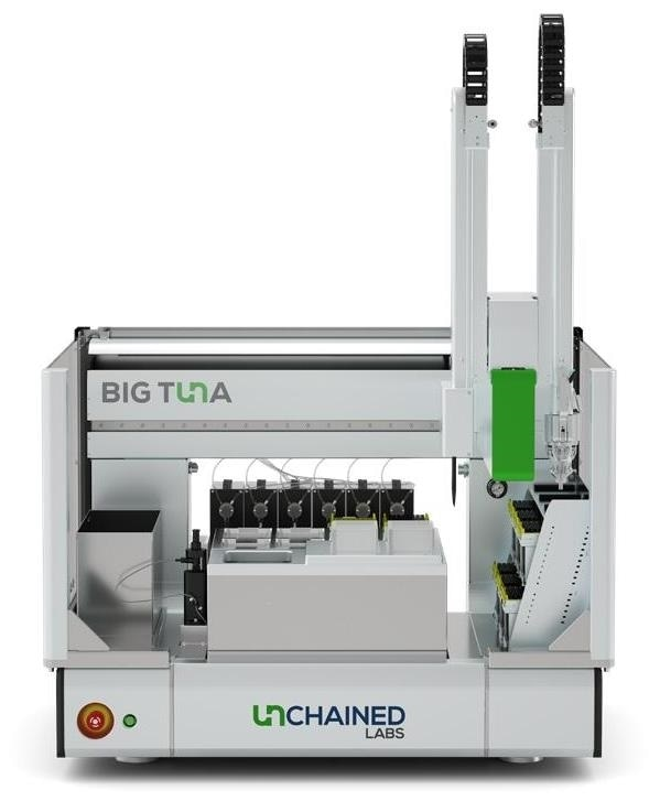 Big Tuna automates buffer exchange for up to 96 unique samples with Unfilter 96 or up to 24 unique samples with Unfilter 24.