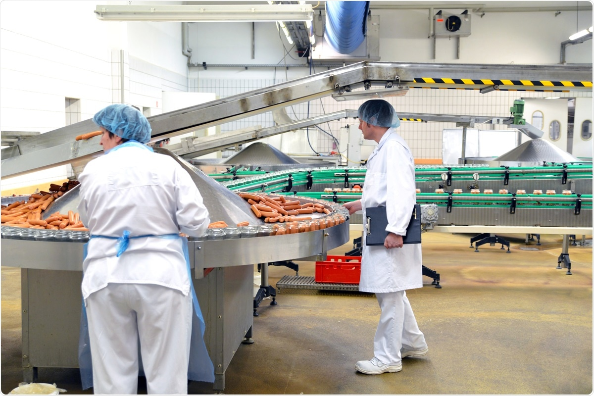Study: Assessment of Environmental and Occupational Risk Factors for the Mitigation and Containment of a COVID-19 Outbreak in a Meat Processing Plant. Image Credit: industryviews/ Shutterstock