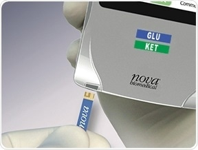 Insert biosensor into the meter.