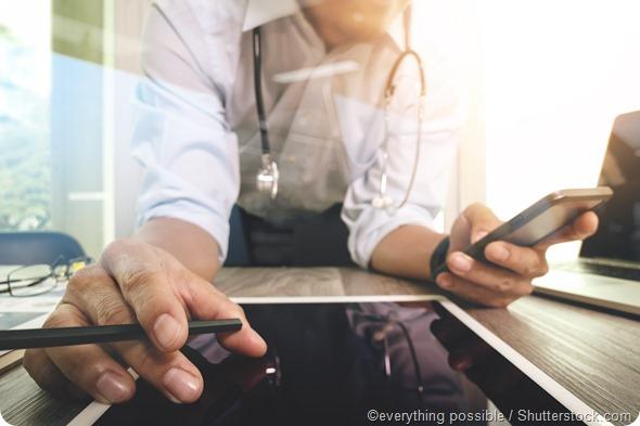 Compressa digitale di medico