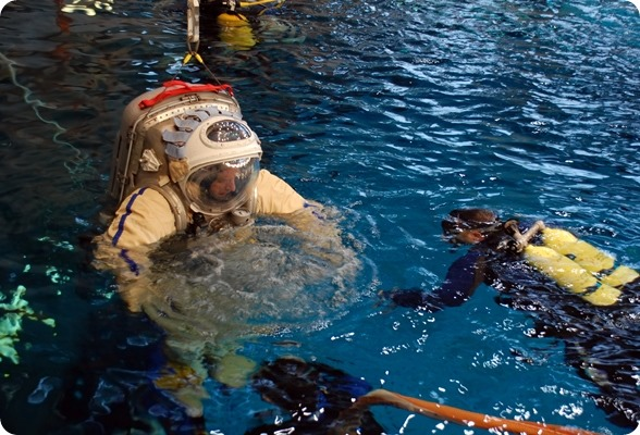 Astronaut in water