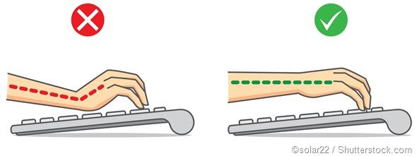 Keyboard hand posture