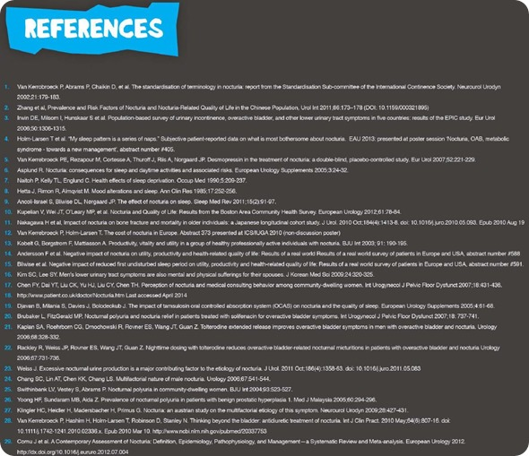 Nocturia References