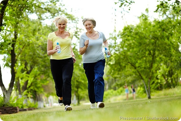 Old women exercising