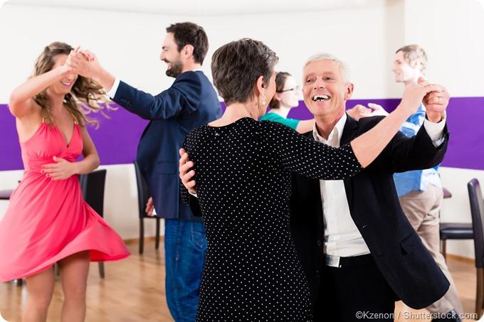 Partner dance class