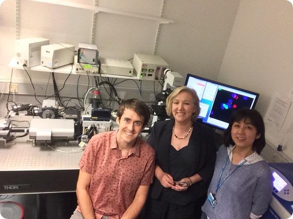 Professor Gillian Griffiths e sua equipe