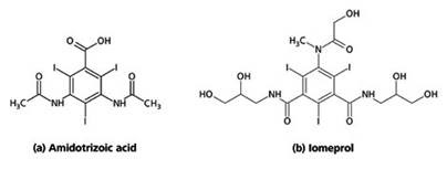 Chemical structures of two X-ray contrast media