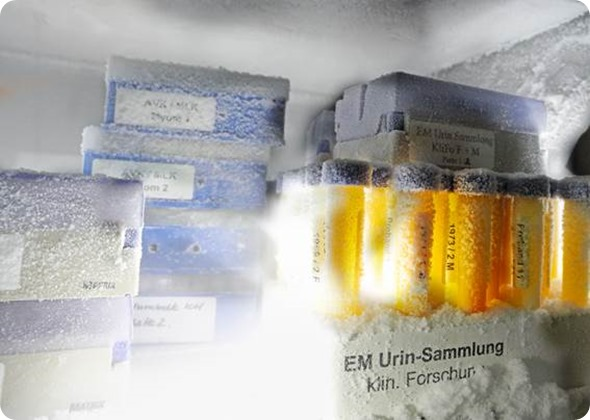 Biobank with frozen samples